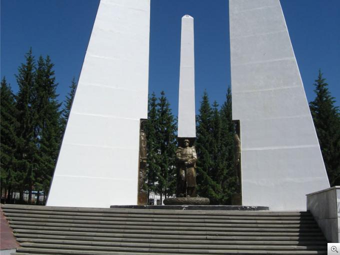 Памятник павшим солдатам ВОВ г. Златоуст